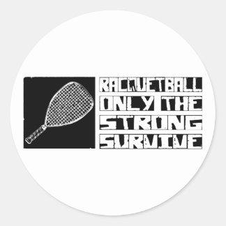 Racquetball Survive Classic Round Sticker