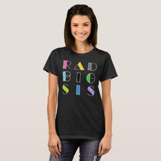 Rad Big Sis Sister Retro Hipster Shirt