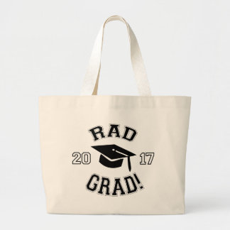 Rad Grad 2017 Large Tote Bag