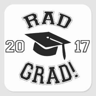 Rad Grad 2017 Square Sticker