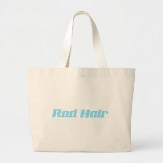 Rad Hair Baby Blue Typography Jumbo Tote Bag