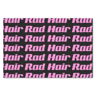 Rad Hair Typography Pink On Black (Customizable) Tissue Paper