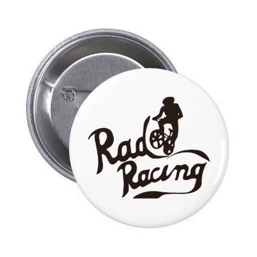 rad racing pinback button