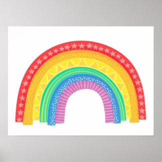 Rad Rainbow - Children's Art Print
