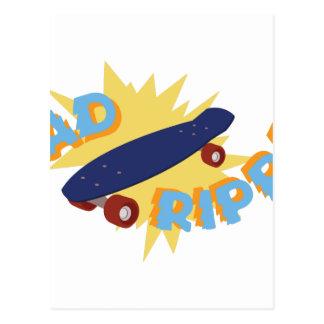 Rad Ripper Skateboard Postcard