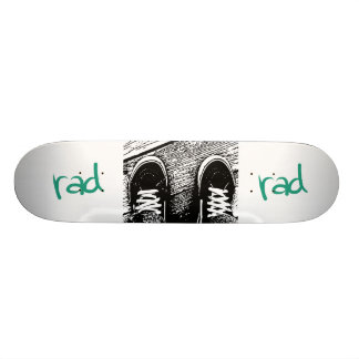 Rad skate shoe design skate deck