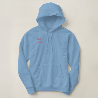 Rad Tech Blue Hoodie Embroidered Shirt
