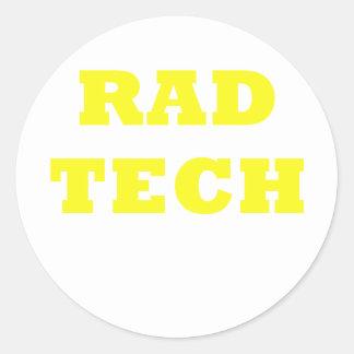 Rad Tech Classic Round Sticker