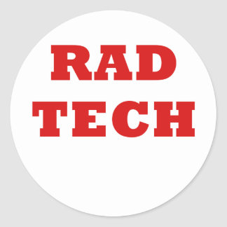 Rad Tech Round Sticker