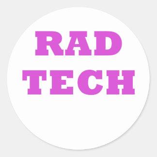 Rad Tech Round Sticker