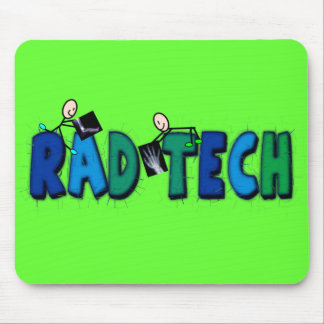 Rad Tech With Stick People and Xrays Design Mouse Pad