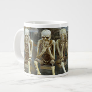 Rad techs hear no evil, speak no evil, see no evil large coffee mug