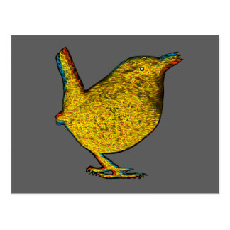 Rad Yellow Bird Postcard