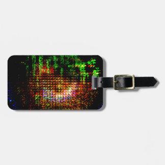 radar kaleidoscope pattern bag tag