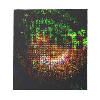 radar kaleidoscope pattern notepad