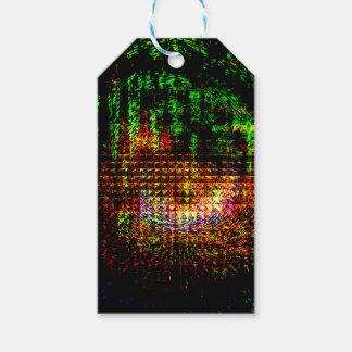 radar kaleidoscope pattern pack of gift tags