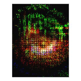 radar kaleidoscope pattern personalized letterhead