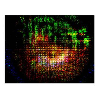 radar kaleidoscope pattern postcard