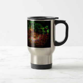radar kaleidoscope pattern travel mug