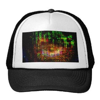 radar kaleidoscope pattern trucker hat