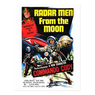 """Radar Men from the Moon"" Postcard"