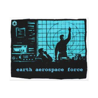 Radar screens - Earth Aerospace Force Canvas Prints