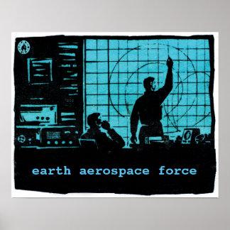 Radar screens - Earth Aerospace Force Poster