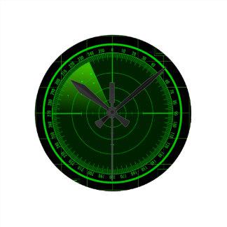 Radar Searching Screen  Wall Clock