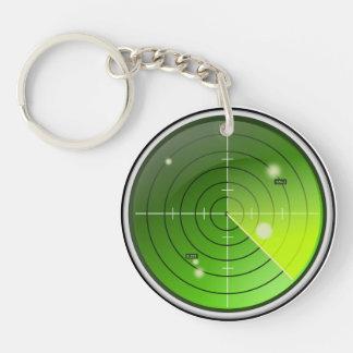 Radar Single-Sided Round Acrylic Keychain
