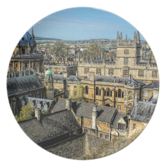Radcliffe Camera and Bodleian Library Oxford Plate