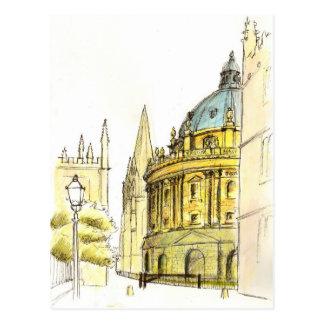 Radcliffe Camera original drawing Post Card
