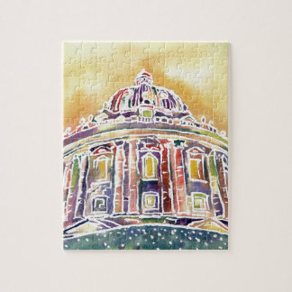 Radcliffe camera - watercolour painting jigsaw puzzle