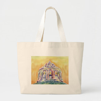 Radcliffe camera - watercolour painting large tote bag