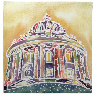 Radcliffe camera - watercolour painting napkin