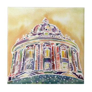 Radcliffe camera - watercolour painting tile