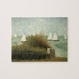 Rade de Grandcamp by Georges Seurat, Vintage Art Jigsaw Puzzle