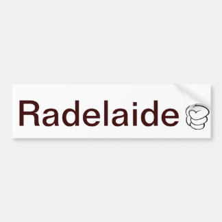 Radelaide Adelaide Bumper Sticker