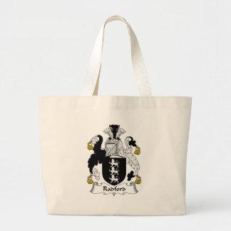 Radford Family Crest Large Tote Bag