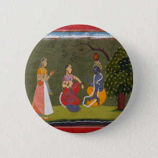 Radha and Krishna in Discussion 2 Inch Round Button