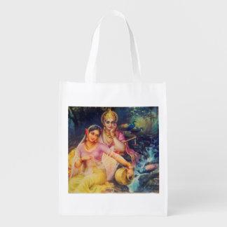 Radha and Krishna reusable bag