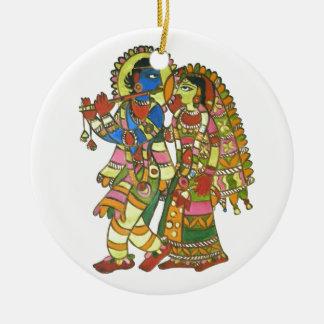 Radha Krishna Ceramic Ornament