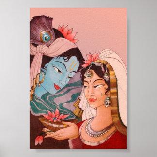 Radha-Krishna Lotus Poster