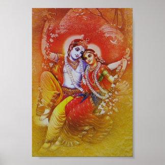 Radha Krishna Swinging Poster