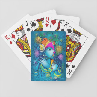 Radhe Krishna playing card