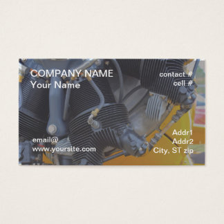 Radial aircraft engine business card