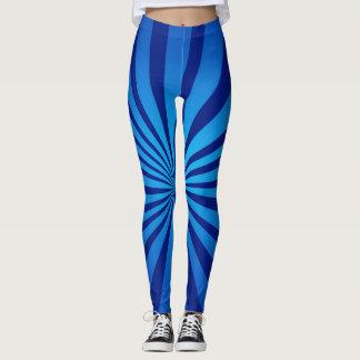 Radial blue leggings