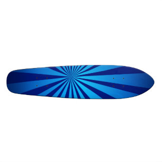 Radial blue skateboard deck