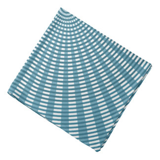 Radial Circular Weaving Pattern - Blue Bandana