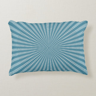 Radial Circular Weaving Pattern - Blue Decorative Pillow