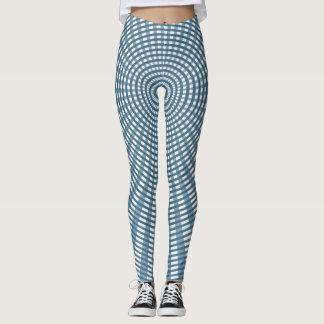Radial Circular Weaving Pattern - Blue Leggings